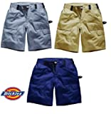 Dickies Grafter Duo Tone Cargo Shorts Premium Quality Lightweight Triple Stitch Detail Hammer Loop Rule Pocket Cargo Pocket With Mobile Phone Pocket Super Durable Fabric Ykk Zip Front Side Elastication Work Casual Suitable For Many Uses 100% Cotton Wd4975
