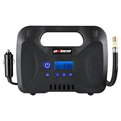 eveco-tire-inflator-12v-dc-150-psi-with-digital-gauge-auto-shut-off-and-sure-fill-technology-portabl