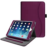 Fintie iPad Mini / Mini 2 / Mini 3 Case [Corner Protection] - [Multi-Angle Viewing] Folio Stand Smart Cover with Pocket, Auto Sleep / Wake for Apple iPad Mini 1 / Mini 2 / Mini 3, Purple