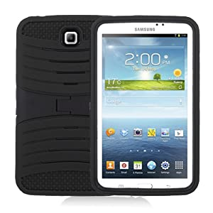 "[Rhino] Black Heavy Duty rugged impact Hybrid Case with Build In Kickstand Protective Case For Samsung Tablet Galaxy Tab 3 7"" P3200 from Rhino"