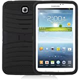 "[Rhino] Black Heavy Duty rugged impact Hybrid Case with Build In Kickstand Protective Case For Samsung Tablet Galaxy Tab 3 7"" P3200"
