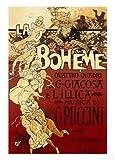 La Boheme, Musica di Puccini Vintage Art Poster Print by Adolfo Hohenstein, 51x72