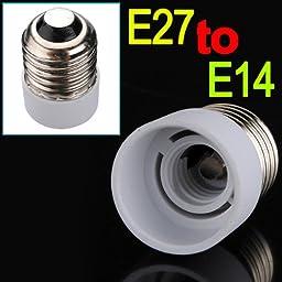 (5135-u) E27 TO E14 FITTING LIGHT LAMP BULB ADAPTER CONVERTER (USA)