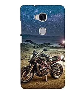 Racing Bike 3D Hard Polycarbonate Designer Back Case Cover for Huawei Honor 5X :: Huawei Honor X5 :: Huawei Honor GR5