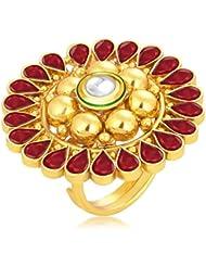 Sukkhi Glorious Designer Traditional Cocktail Gold Plated Kundan Finger Ring For Women