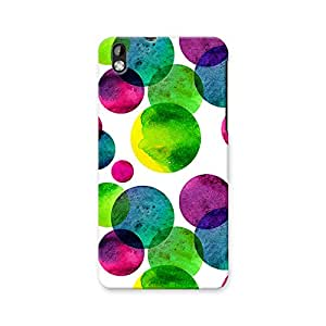 ArtzFolio Circles On White : HTC Desire 816 Matte Polycarbonate ORIGINAL BRANDED Mobile Cell Phone Protective BACK CASE COVER Protector : BEST DESIGNER Hard Shockproof Scratch-Proof Accessories