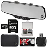 HP f720 Super HD Car Rearview Mirror Mount Dash Video Recorder Camera with 4.3