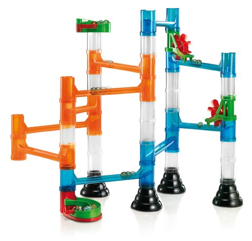 Quercetti 45-Piece Transparent Marble Run - Marble Run Construction Toy [Toy]