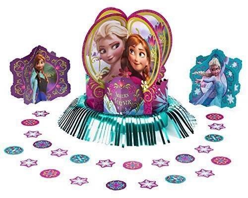 Disney Frozen Party Table Decorations Kit ( Centerpiece Kit ) 23 PCS - Kids Birthday and Party Supplies Decoration