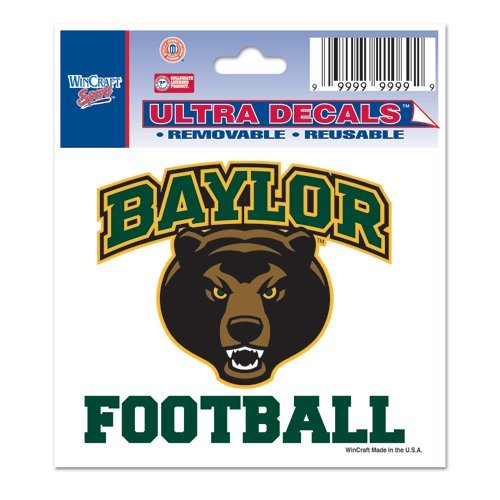 Baylor University Ultra Decal 3x4 FOOTBALL (Baylor Auto Decal compare prices)