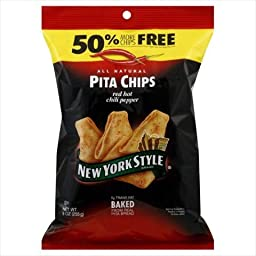 New York Style Ny Style Red Hot Chili Pita Chips, 9 Oz, Pack Of 12