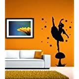Hoopoe Décor A Beautiful Girl Dancing Wall Stickers And Decals