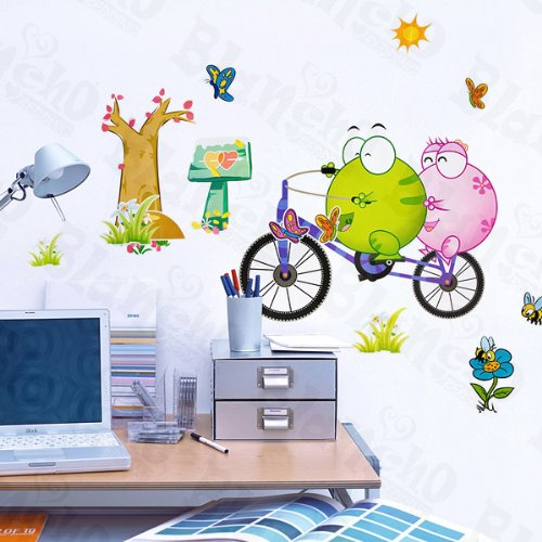 Bicycling 2 - Large Wall Decals Stickers Appliques Home Decor (Two For The Dough Large Print compare prices)