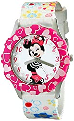 Disney Kids W001976 Minnie Mouse Watch with Multicolor Nylon Band