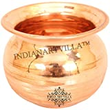 IndianArtVilla Pure Copper Pooja Lota Kalash | 750 ML Capacity | For Good Health Yoga Temple Marriage Religious...