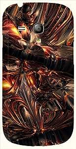 Amazing multicolor printed protective REBEL mobile back cover for S3 Mini / Samsung I8190 Galaxy S III mini D.No.N-L-13035-S3M