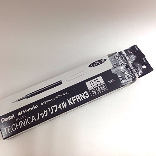 Pentel stylo ? bille hybride KFRN3 0.3mm noir [10 ensembles] XKFRN3-A (japon importation)