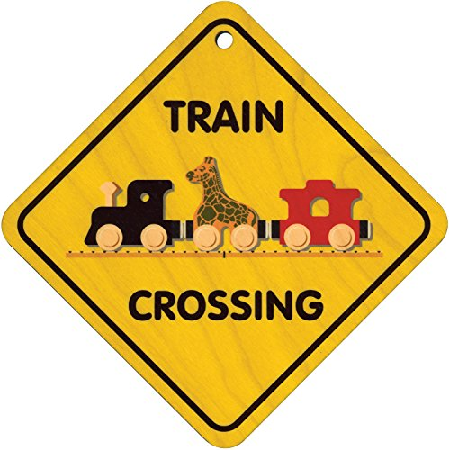 Wooden Train Crossing Sign - Made in USA