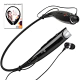 Wireless Bluetooth Stereo Headphones by Chirotronix – HBS730 – Black Hands Free Headset with Microphone – Comfortable Earbuds Stay in Ears – Great for the Gym, Running, Walking, Biking, Gardening, Working out, TV Listening, Driving, Airplane Travel – For iPhone, Samsung, HTC, LG, Nokia, Verizon, Sprint, AT&T, iPad, iPod, PC, PS3 – Best 100% Money Back Satisfaction Guarantee