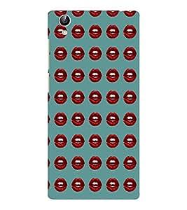 EPICCASE red lips Mobile Back Case Cover For Vivo Y51 (Designer Case)
