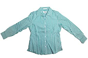 Foxcroft ladies 39 wrinkle free blouse size s m many for Wrinkle free dress shirts amazon