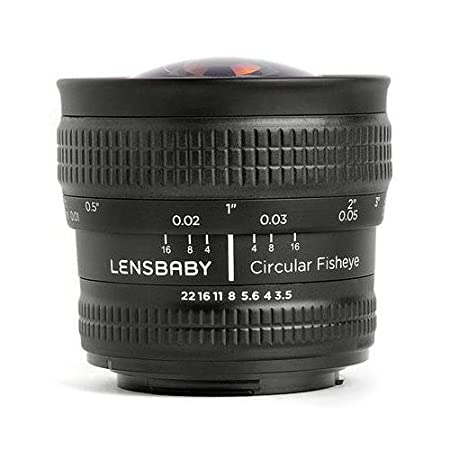 Lensbaby LB-CFEF circulaire Fisheye noir pour connecter Fuji X
