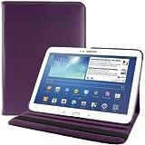 kwmobile® 360° Premium KUNSTLEDERTASCHE für Samsung Galaxy Tab 3 10.1 P5200 / P5210 / P5220 in Violett mit praktischer Ständerfunktion und Auto Sleep / Wake Up Funktion