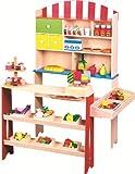Lelin Wooden Wood Childrens Kids Corner Village Shop Shopping Supermarket Unit
