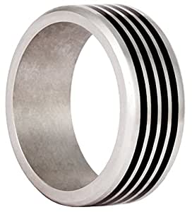 Bico Vapor 316L Stainless Steel Black Inlayed Ring (AR29) - The need