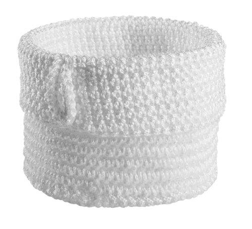 Spirella 10.17649 - Custodia cilindrica portatutto realizzata all'uncinetto, 12 cm, colore: bianco