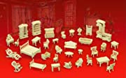 Wooden Dollhouse Furniture Set 3D Puzzle