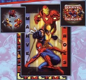 Parure de lit housse de couette spiderman ironman wolverine marvel heroes 140 - Taie d oreiller spiderman ...
