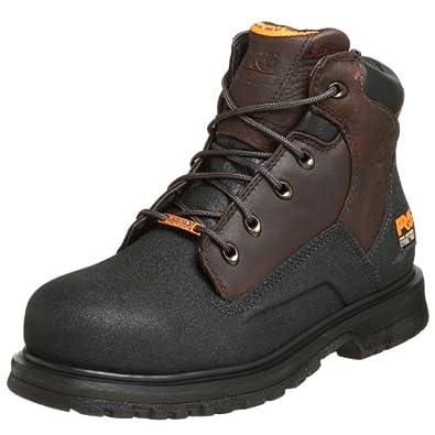 "Timberland PRO Men's 47001 Power Welt Waterproof 6"" Steel-Toe Boot,Brown/Brown,7 M"