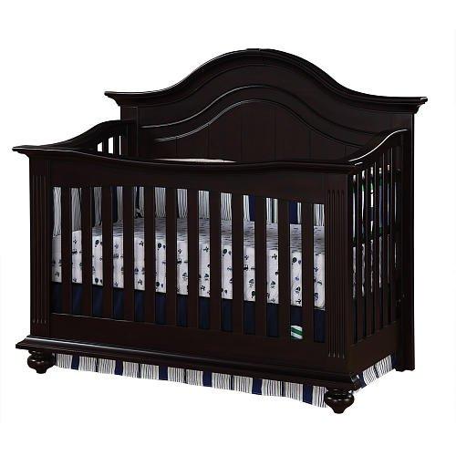 Baby Cache Melbourne Lifetime Crib Espresso front-1032956