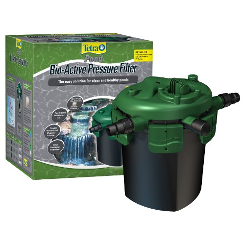 Tetra Pond Bio-Active Pressure Filter BP1500-UV, Ponds up to 1500 Gallons