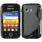 Silikon Hülle Samsung Galaxy Y S5360 - Schwarz - PhoneNatic TPU Case Silikon Cover Hülle Schutzhülle + Schutzfolie