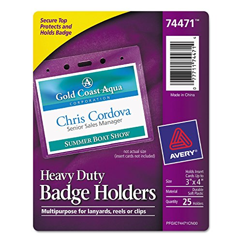 Avery Top Loading Horizontal Badge Holder (Avery Name Badge Inserts 5392 compare prices)