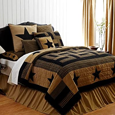 Solid Black Bed Skirt by VHC Brands