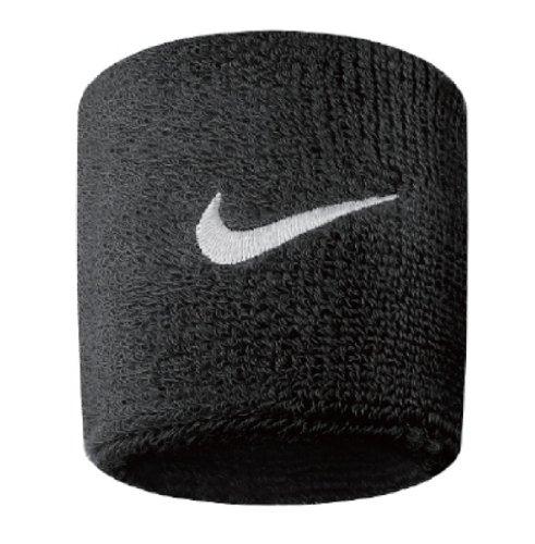 Nike Swoosh Braccialetti Polsini, Colore Nero - Bianco, Taglia Unica