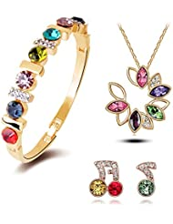YouBella Presents Gracias Collection Crystal Jewellery Rainbow Musical Notes Combo Of Necklace Set / Pendant Set...