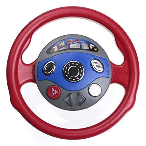 toy steering wheel for car seat baby steering wheel toy kids back window seat toy car steering wheel game horn electronic sounds light for toddlers