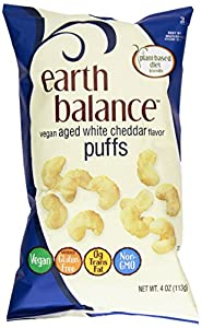 Earth Balance Vegan Puffs, White Cheddar, 4 Ounce