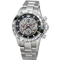 [ジョンハリソン]J.Harison 腕時計 自動巻き ブラック文字盤 JH-003SB メンズ
