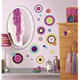 RoomMates RMK2245SCS  Crazy Dots Peel and Stick Wall Decals