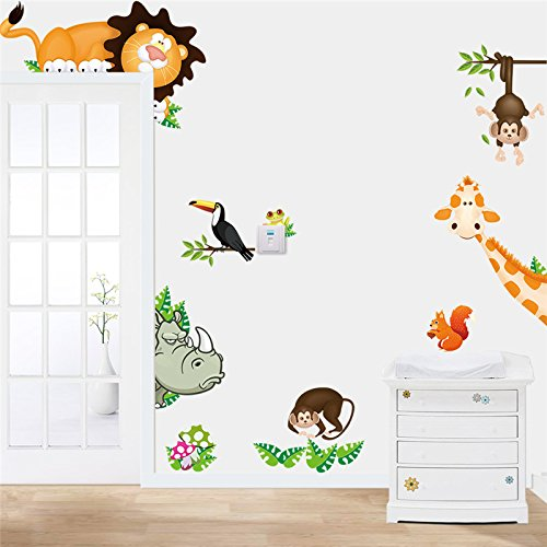 Lovely Animal Zoo Nursery Removable Wall Sticker Art Vinyl Decal Decor Mural Kids Home Decor (Salt Life Car Decal Large compare prices)