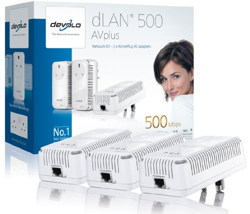 Devolo dLAN 500 AVplus (IEEE 1901/ HomePlug AV) Network Kit - (3x plugs)