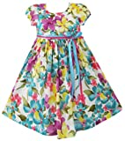 Girls Dress Blue Sundress Party Halloween Kids Clothes Size 2-10