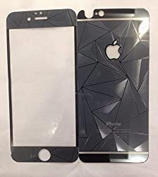 ShopAIS 3D Diamond Tempered Glass For Iphone 6 Black - Front + Back Tempered Glass - We offer a Transperent Utra-Thin Back Cover worth Rs 199 Free with all orders