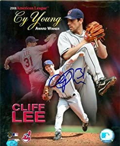 Cliff Lee Autographed Hand Signed 8x10 Photo (Cleveland Indians) 2008 Cy Young Award... by Hall+of+Fame+Memorabilia