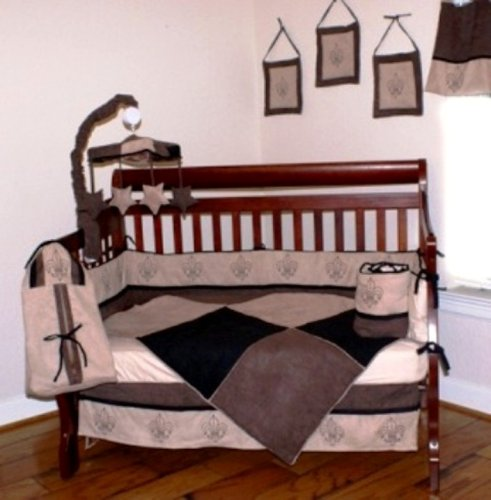 Nursery-To-Go Mocha Baby Bedding 10 Piece Crib Set